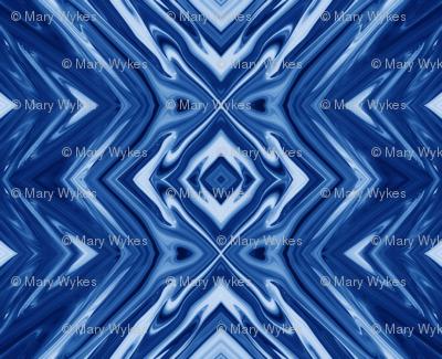 GP16 - XL - Geometric Pillars in Grape Blue