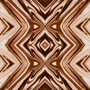 GP22 - XL - Geometric Pillars in Brown and Taupe