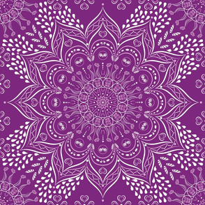 Purple and white mandala pattern
