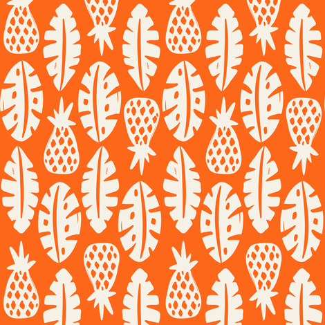 Rainforest - Orange fabric by heatherdutton on Spoonflower - custom fabric