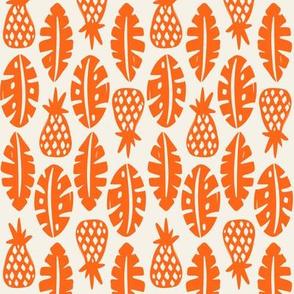 Rainforest - Cream Orange