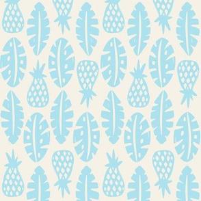 Rainforest - Cream Sky Blue