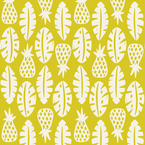 Rainforest - Citron Green fabric by heatherdutton on Spoonflower - custom fabric