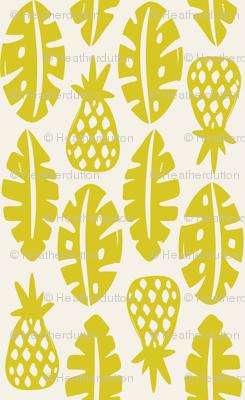 Rainforest - Cream Citron Green