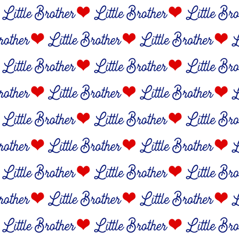 Little Brothers are the Best  fabric by brainsarepretty on Spoonflower - custom fabric