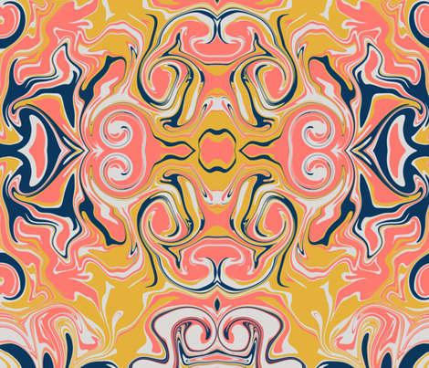 living coral  fabric by stacystudios on Spoonflower - custom fabric