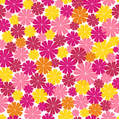 Flower Power pink red yellow orange