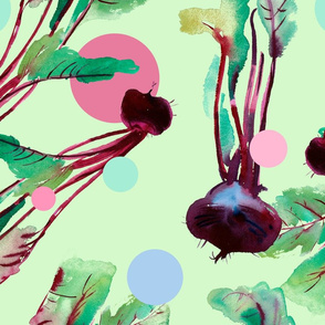 Beetroot pattern with watercolor illustrations_3