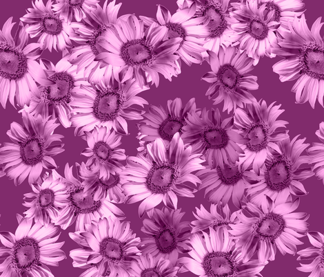 Raspberry Wild Floral fabric by madradstitches on Spoonflower - custom fabric