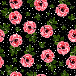 """8"""" Red Roses Mix and Match - White Polka Dots"""