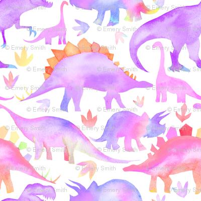 Purple Dinosaurs - tiny scale