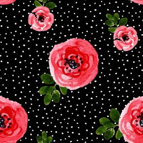 "8"" Red Roses - Version 2 - White Polka Dots"