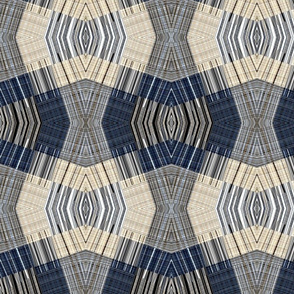beige blue stripes combination