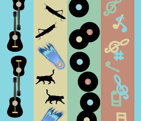 Rockabilly Bands fabric by shari_lynn's_stitches on Spoonflower - custom fabric
