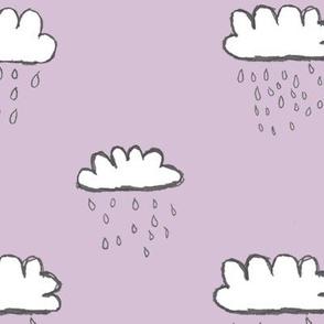rain clouds (mauve-ish) / nursery baby kids simple design