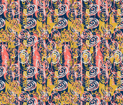 Coral Sea Swirls fabric by emily_caraballo on Spoonflower - custom fabric