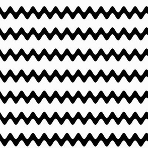 Black white zigzag wave