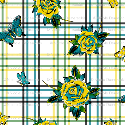 Deadly Plaid Yellow Teal