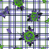 Deadly Plaid Green Purple