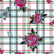 Deadly Plaid Pink Blue