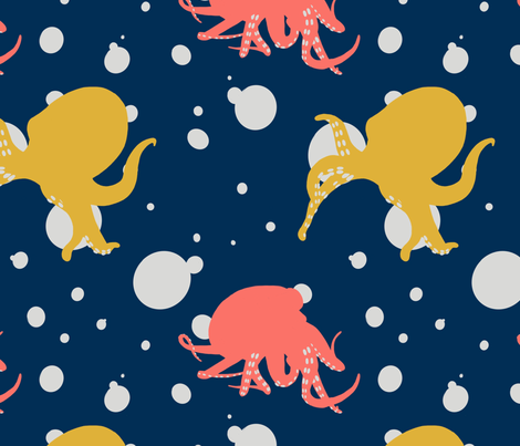 Octo_Bubbles fabric by alisha_ober on Spoonflower - custom fabric