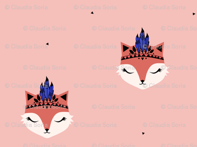 Fox Feathers - Dusty Pink