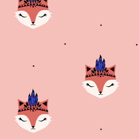 Fox Feathers - Dusty Pink fabric by kimsa on Spoonflower - custom fabric
