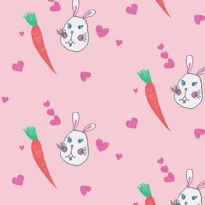 bunny loves carrot / kids print