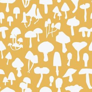 Mushroom Silhouette Yellow