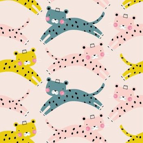 Cheetah leopard baby girl pink animal pattern