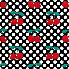 Sparkly Cherries on Polka Dot Spots