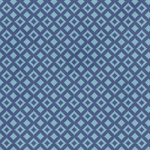 Moroccan Mosaique tiny blue checks distressed stone texture