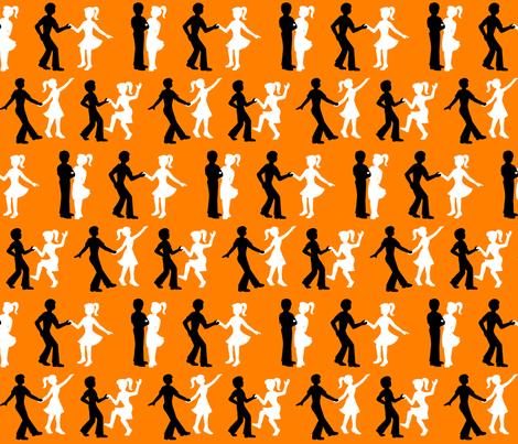 08409941 : RnR dancers : aflame fabric by sef on Spoonflower - custom fabric