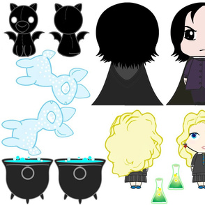 Witch & Wizard Cut & Sew Dolls