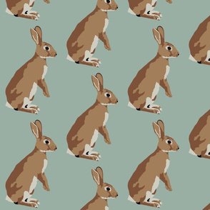 Richard the rabbit in robins egg blue