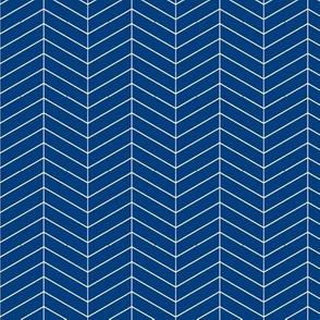 Skinny herringbone - blue  LAD19