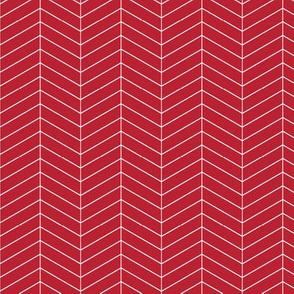 Skinny herringbone - red LAD19