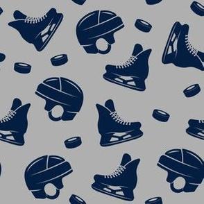 Ice hockey -  navy on grey medley - LAD19