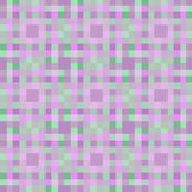 Pastel pixel lines mosaic purple & green fabric
