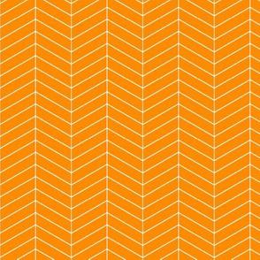 Skinny herringbone - orange LAD19