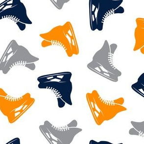 ice hockey skates - navy orange grey LAD19