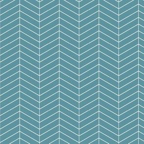 Skinny herringbone - stone blue LAD19