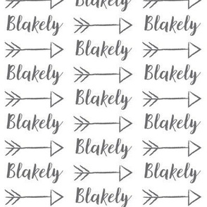 arrow personalized blakeley