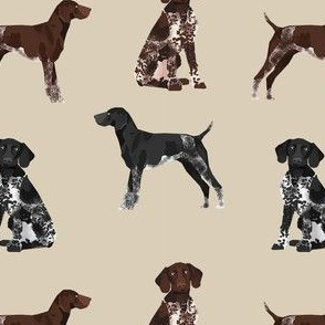 german shorthaired pointer dogs fabric - gsp fabric, gsp dog, cute dog, black and white gsp, liver gsp, dog fabric