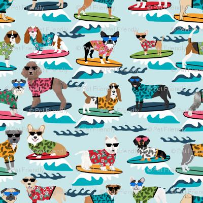 TINY - surfing dogs summer beach fun dogs