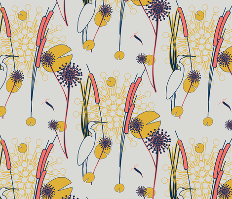 Marsh Land fabric by yewtree on Spoonflower - custom fabric