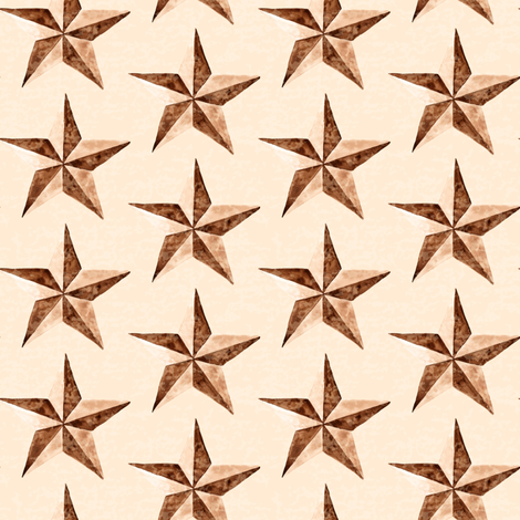 19-01B Antique Texas Star Watercolor _ Miss Chiff Designs  fabric by misschiffdesigns on Spoonflower - custom fabric