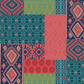 ikat room patchwork