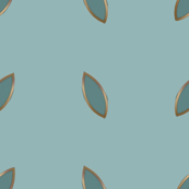 ART DECO Ditsy Pattern* blue and gold