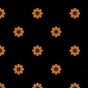 ART DECO Ditsy Pattern* orange